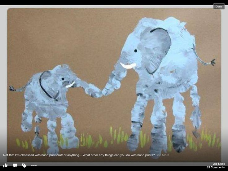 Handprint pic - elephants