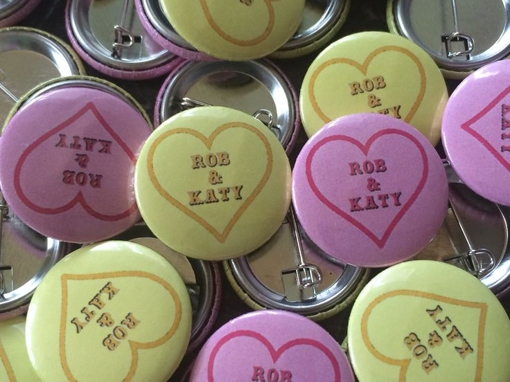 Wedding Favour Badges. A great keepsake your guests to remember your special day.