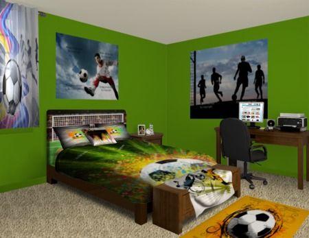 Pin On Soccer Bedroom Ideas
