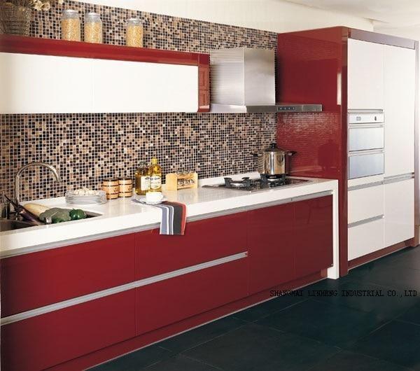 Lacquer Kitchen Cabinet Lh La018 Kitchen Cabinets High Gloss Kitchen Cabinets Kitchen Paint