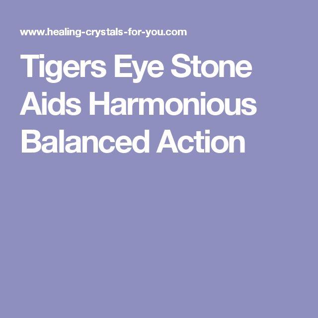 Tigers Eye Stone Aids Harmonious Balanced Action