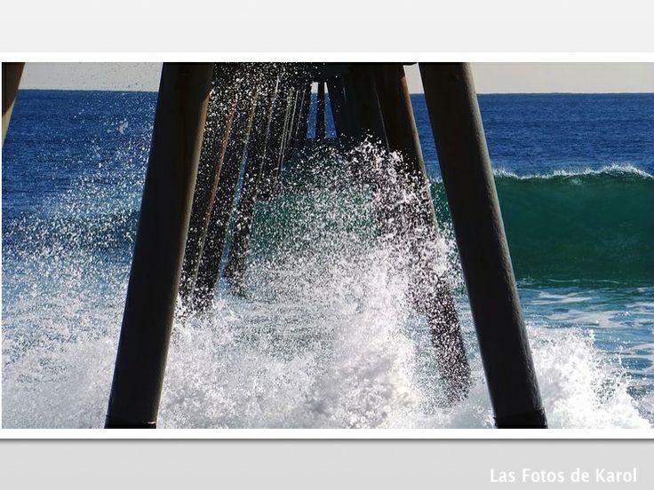 #puentes #olas #mar #perspectiva
