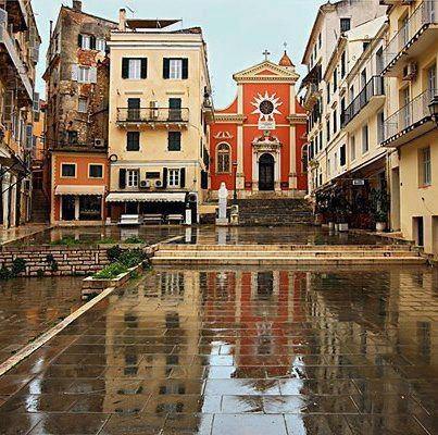 Corfu island historic center