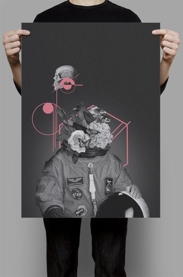 astron▲ut by Willian Santiago, via Behance