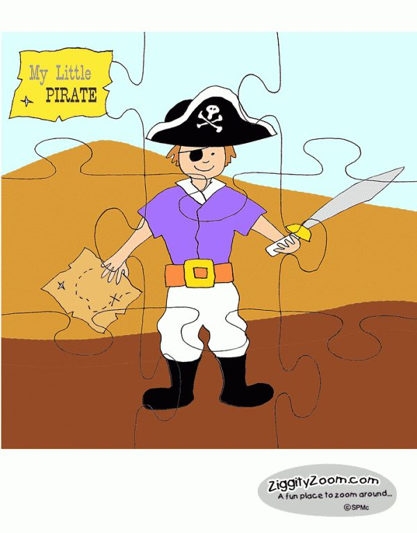 Piraten puzzel / My Little Pirate Puzzle , free printable