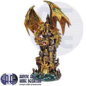 Golden Dragon on Castle