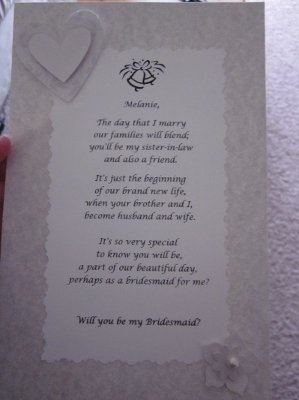 Will you be my bridesmaid? | Weddings, Do It Yourself, Etiquette and Advice, Fun Stuff | Wedding Forums | WeddingWire