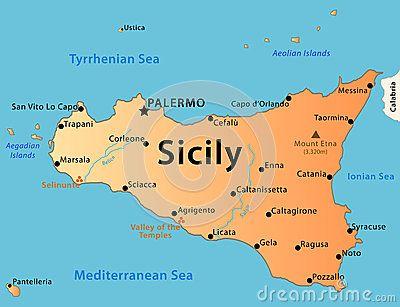 Sicily map by Fabrizio Mariani, via Dreamstime SICILIA