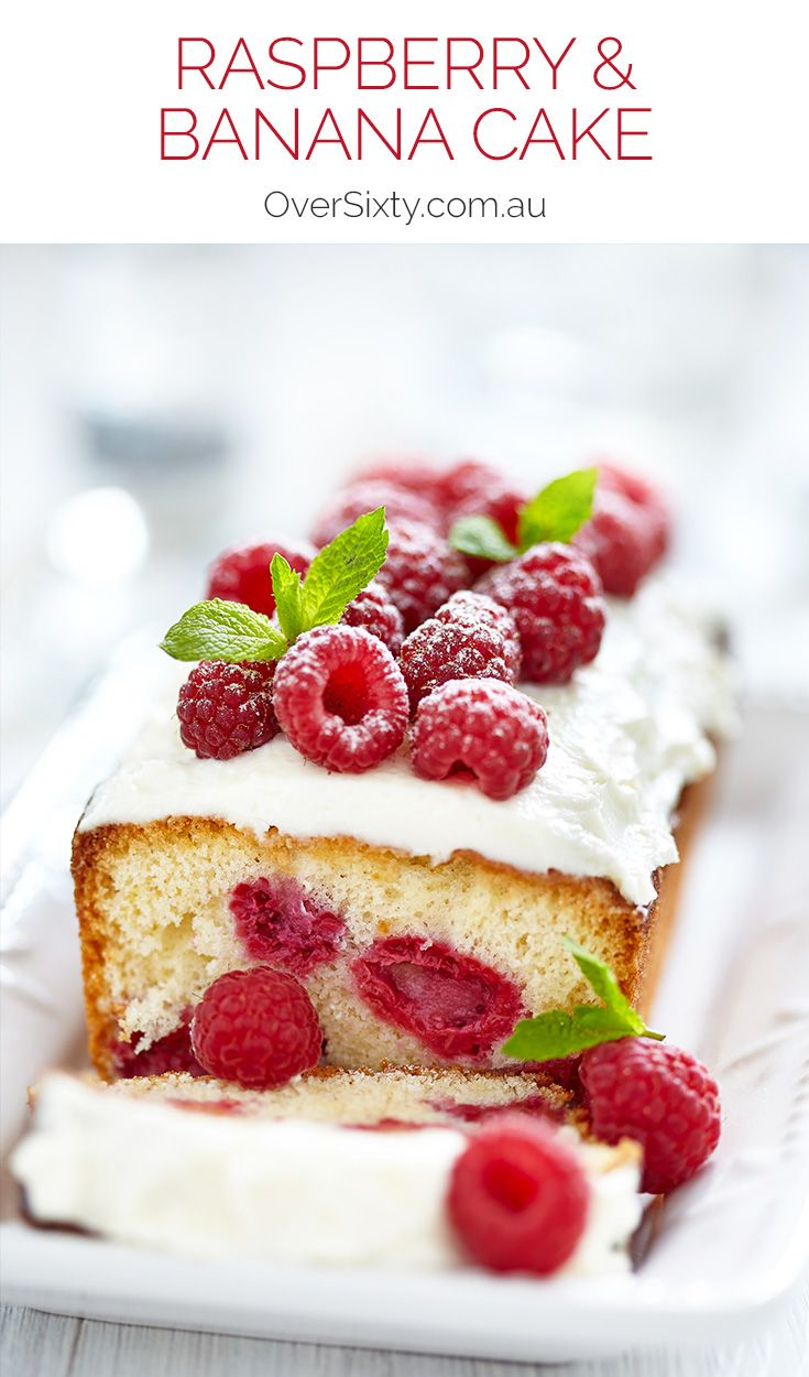 Raspberry & Banana Cake - with a delicious passionfruit icing on top, this cake makes fruit the star. Perfect for an afternoon or high tea event.