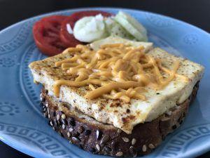 Sunny Side Up Tofu Sandwich – Vegan on the Road