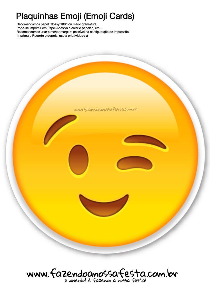 Uau! Veja o que temos para Plaquinhas-Emojis-109---Emoji-Card---Fazendo-a-Nossa-Festa