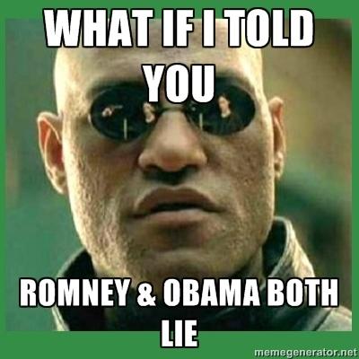 Matrix Morpheus - What If I told you Romney & obama both lie