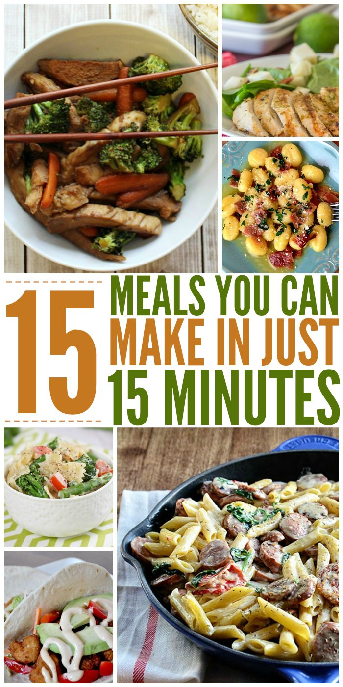 15 Meals You Can Make in Just 15 Minutes