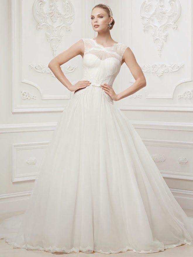 Truly Zac Posen 2014 Wedding Dresses at David's Bridal | bellethemagazine.com
