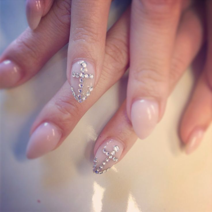 396 best nails by the haute spot images on pinterest painted rhinestone anchor nail design prinsesfo Choice Image