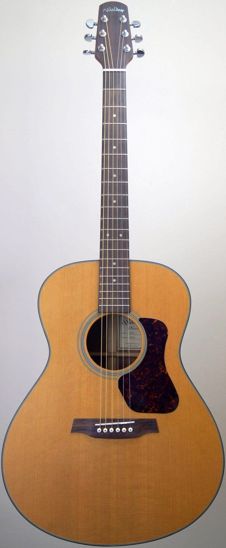 "Walden G570 ""Natura"" acoustic Guitar at Ukulele Corner --- https://www.pinterest.com/lardyfatboy/"