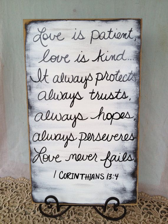 Love Scripture Wedding Sign by SassySouthernCharm, $20.00