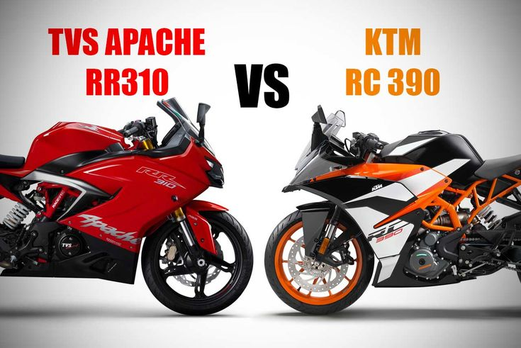 TVS Motor Company recently launched the much awaited TVS Apache RR 310 motorcycle. Here we have a quick comparison of its specs, features and price against the popular KTM RC 390 ABS | Top Speed, Suspension, Wheels, Tyre Size, Colours, Weight, Mileage, Engine, On-road price