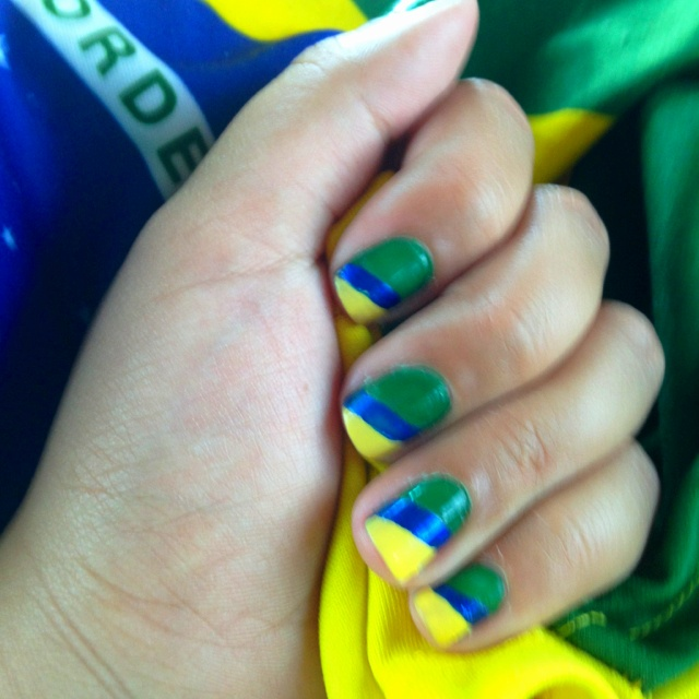Brazilian nails #brazil #soccer