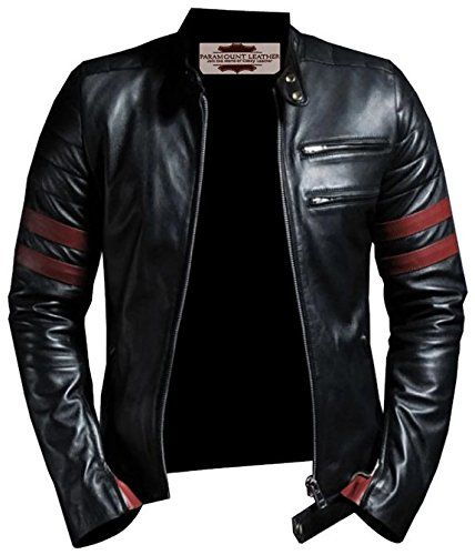 Tough Look Black and Red Faux Leather Jacket *** Check this awesome product by going to the link at the image.