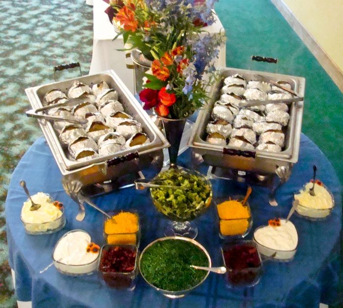 Baked Potato Bar « Dinner and Lunch « Menu « Catering | A Matter of Taste Cakes and Catering - Chambersburg, Pennsylvania