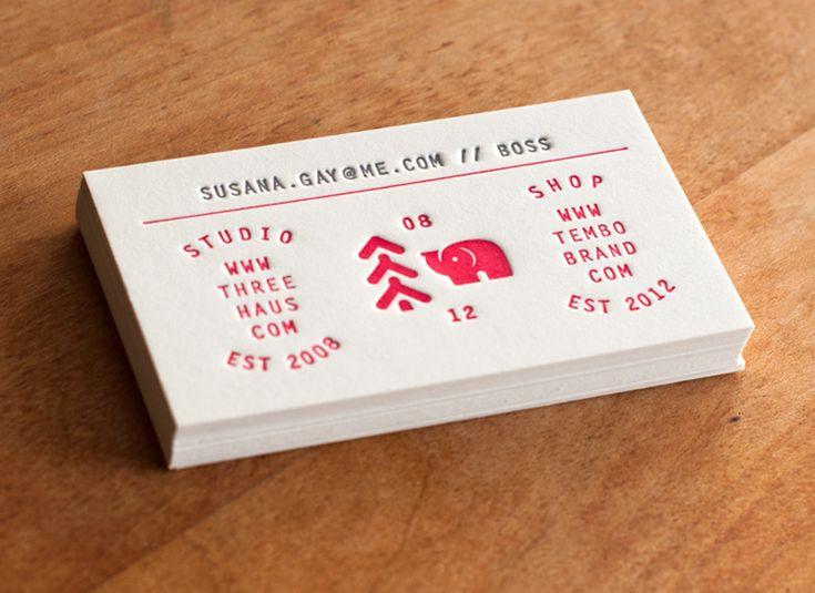 183 best Letterpress images on Pinterest Business cards - letterpress business card