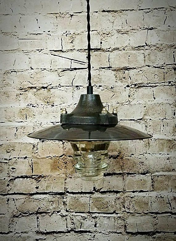 Pendant light industrial pendant light metal industrial shade glass insulator light pipe light insulator light
