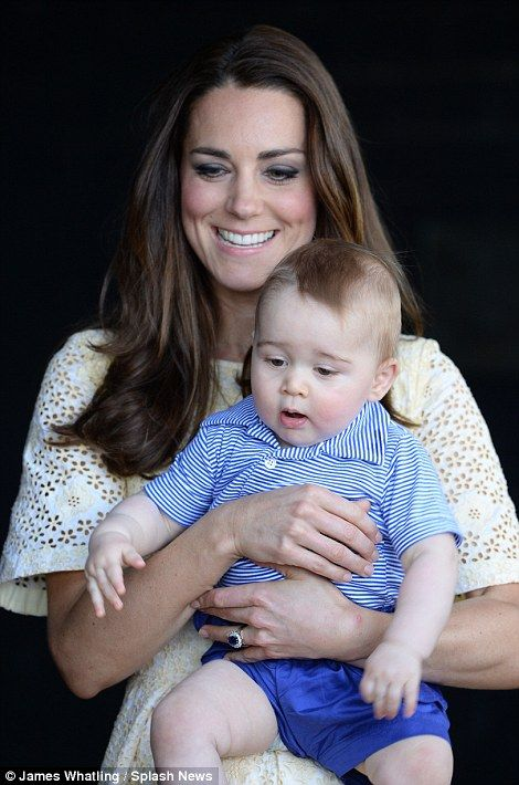 This is Prince George's second official engagement during the tour of Australia and New Zealand. While in Wellington he attended a 'playdate...