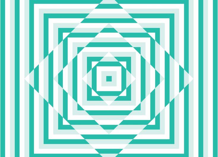 Geometric patterns designed by ico for British bubble tea brand Biju