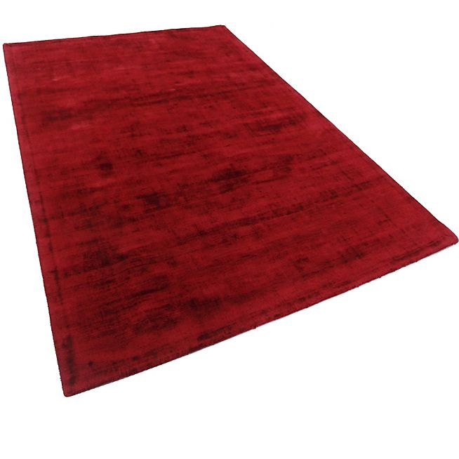 Tansen Tapis en viscose rouge - 160x230cm