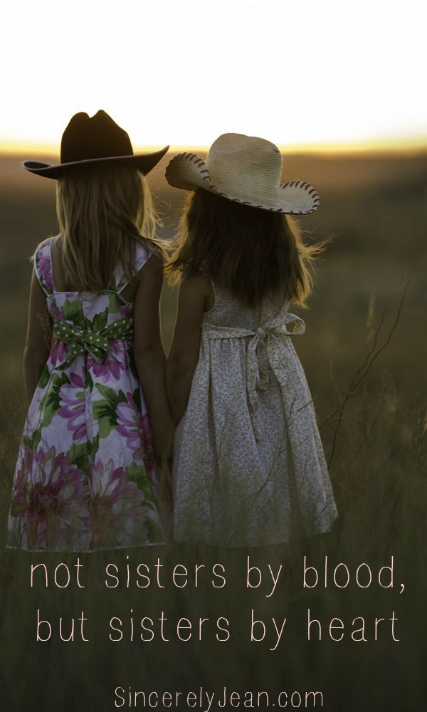 Friendship Quote: Not sisters by blood, but sisters by heart #Friendship…