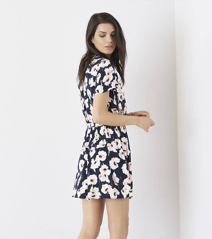 Belted Shirt Dress WATERCOLOR FLORAL