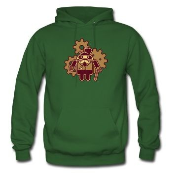 Android Steampunk Spreadshirt Hoodie    bit ly 11QE5cf
