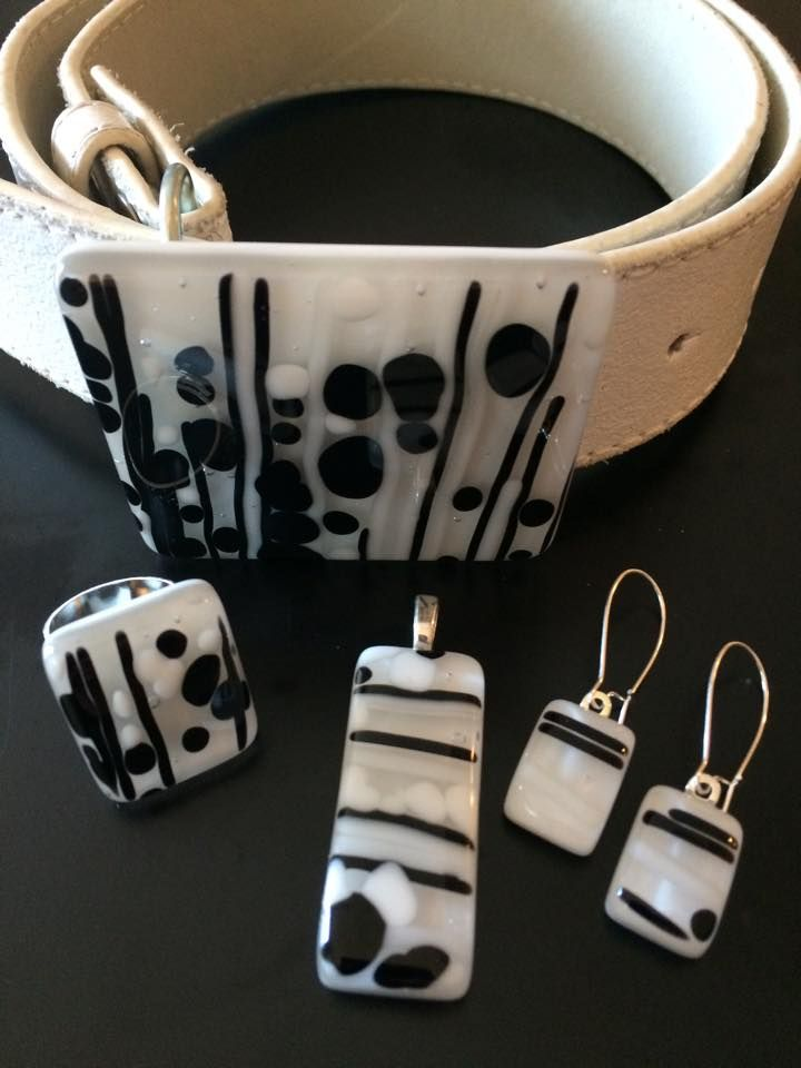 Handmade, fused glass jewelry and belt buckle by Miss Olivia's Line. #MOL Additional items posted at https://www.facebook.com/MissOliviasLine