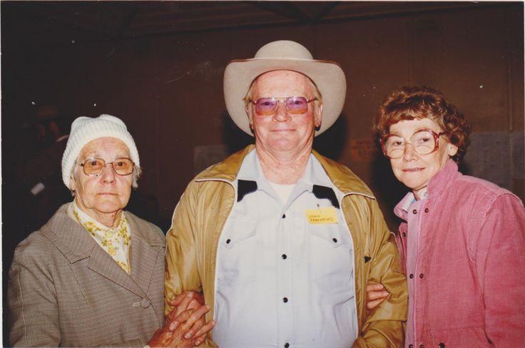 Mother with son & daughter. Marcie Mathews, Stan Mathews & Alma Nicholl. Charlie`s branch.