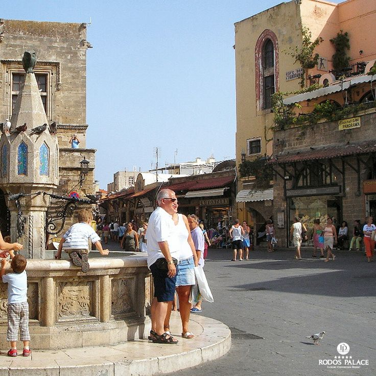 Enjoy walking in the #Oldtown of #Rodos!!  Discover all the little squares of the second biggest Old town in the Aegean Sea!  www.rodos-palace.com