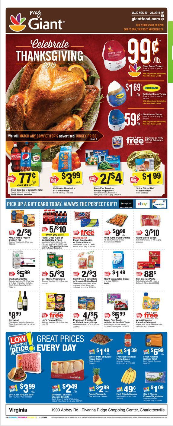 Giant Food Weekly Ad November 20 - 26, 2015 - http://www.olcatalog.com/grocery/giant-food-weekly-ad.html