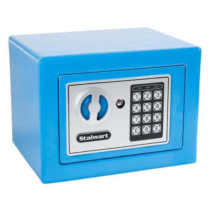 0.16 cu. ft. Deluxe Digital Lock Steel Safe, Blue