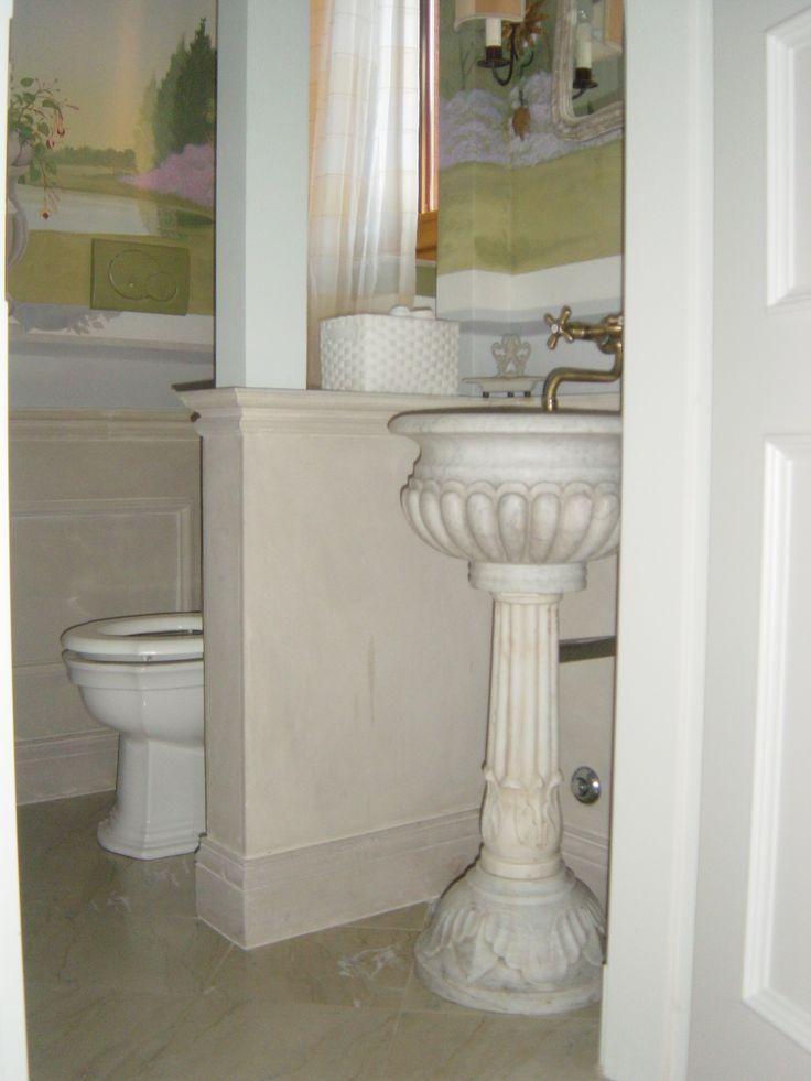 www.pulchria.it pavimento in marmo virens striatus, lambris in arenaria sabulum