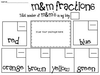 M & M Fractions with buddies.  The link takes you to TpT, but I remember doing this in student teaching- glad to be reminded of it!