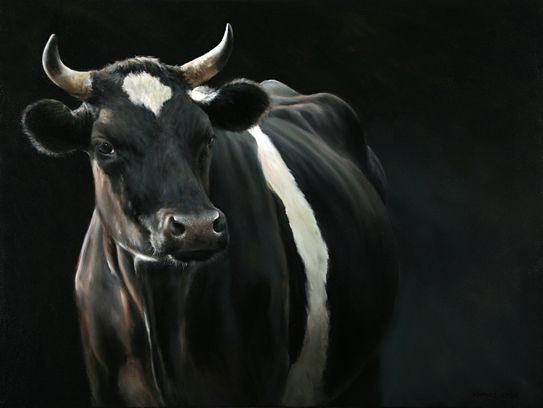 Sold | Amy II the Cow, oil/canvas 24 x 32 inch (60 x 80 cm) © 2009 Klimas
