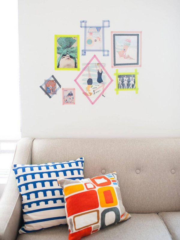 washi tape diy tape gallery wall