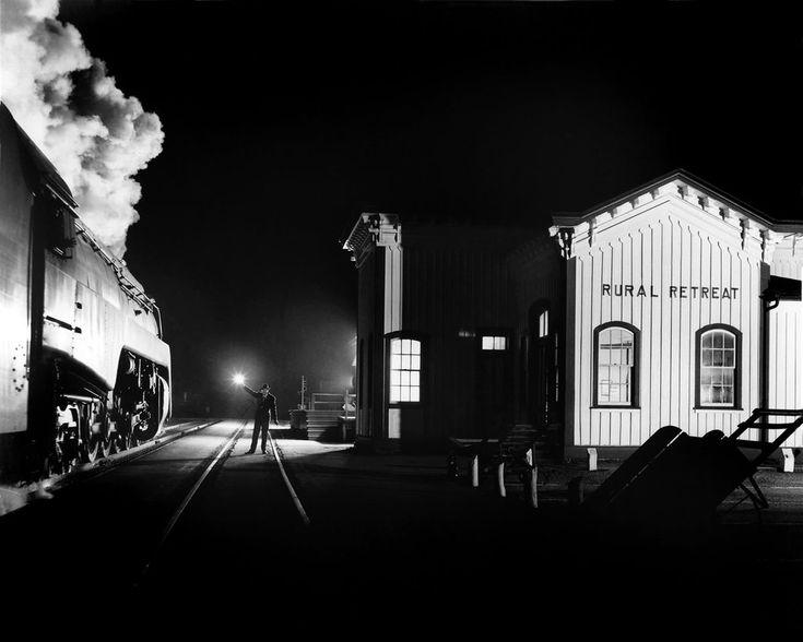 winston link train nuit 08 Les trains de nuit de Winston Link  photo photographie histoire art
