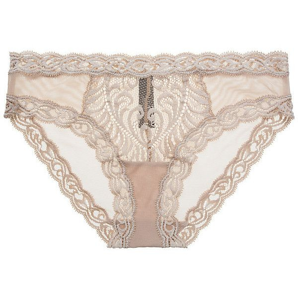 Natori Feathers Hipster ($21) ❤ liked on Polyvore featuring intimates, panties, lingerie, cafe, see through lingerie, hipster lingerie, sheer lingerie, natori and hipster panty