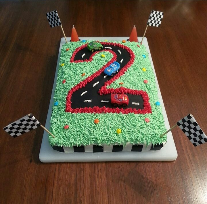 Race Car Cake Kids Birthday Party Food & Ideas Pinterest