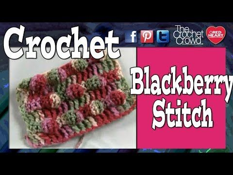 For More Free Crochet Patterns and Ideas go to http://www.allfreecrochet.com This is part 1 of 2 of the Black Berry Salad Stitch. This pattern gives magnific...