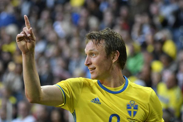 Kim Kallstrom of Sweden during the international friendly between Sweden and Wales at Friends Arena on June 5, 2016 in Solna, Sweden.