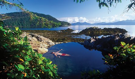 Hotspring Island- Natural Hot Pool Overlooking the Ocean in Gwaii Haanas National Park, Haida Gwaii