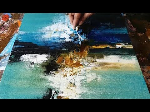 Abstract painting / Demonstration of Abstract painting in Acrylics / Palette knife - YouTube