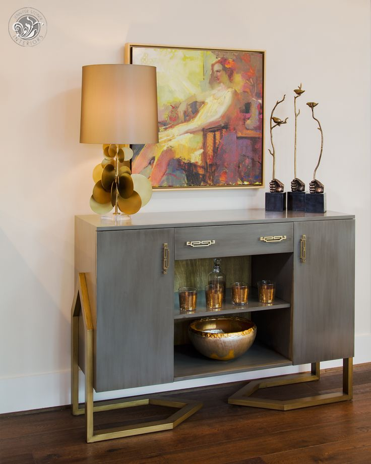 The Leigh Credenza - part of the custom furniture line designed by Jennifer Stoner Interiors.  2014 Richmond Symphony Designer House